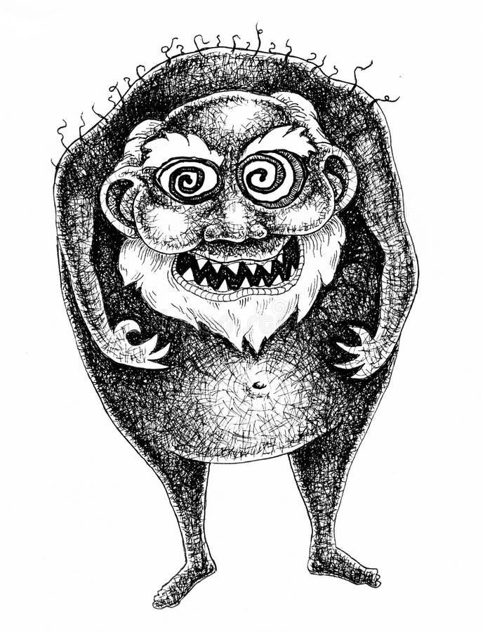 Mad monster vector illustration