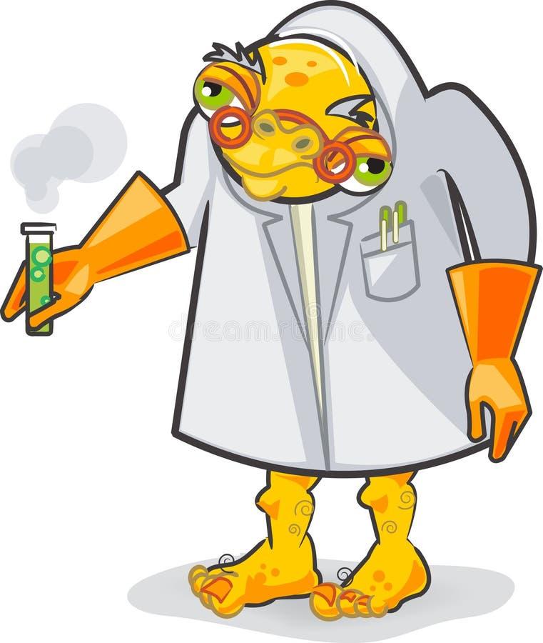 evil cartoon scientist - 381×450