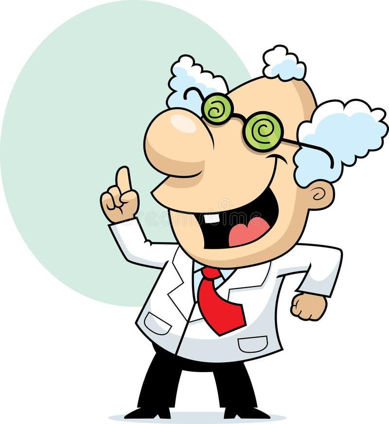 Mad Scientist vector illustration