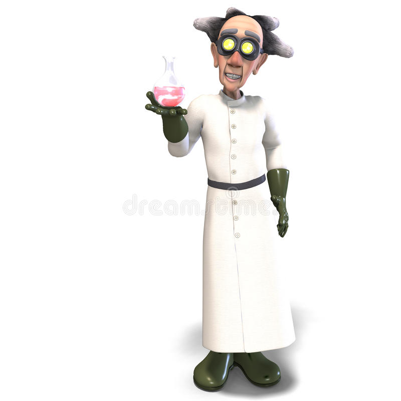 Free Mad Scientist With Dangerous Fluid Stock Photos - 10838363