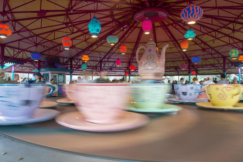Mad Tea Party, Disney World, Travel, Magic Kingdom. Mad Tea Party Cup ride in the Magic Kingdom at Walt Disney World outside of Orland, FL. Florida is a popular stock image