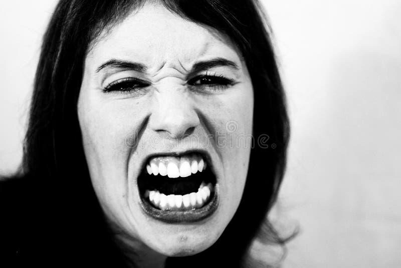 Mad woman stock photo