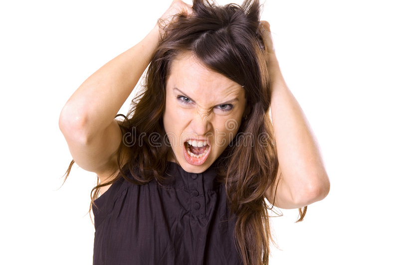 Download Mad woman stock photo. Image of female, angry, tear, disturbance - 5170654