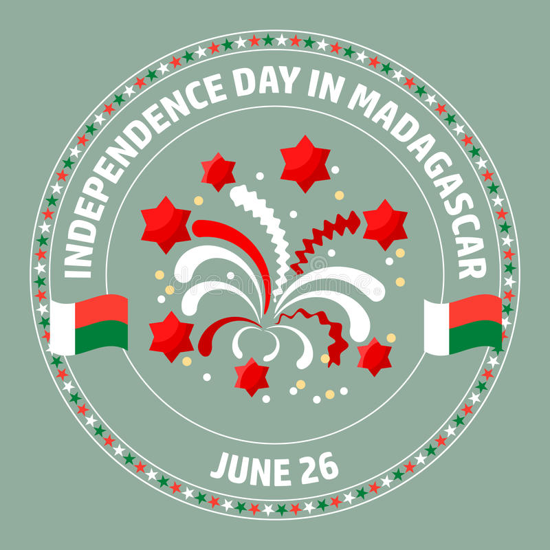 Madagascar Independence Day label. Vector. vector illustration