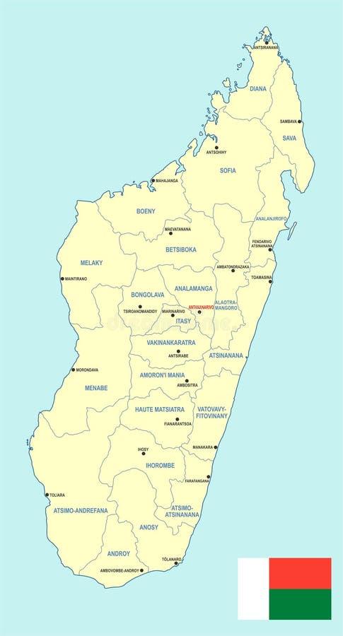 Madagascar Map Cdr Format Stock Vector Illustration of boeny