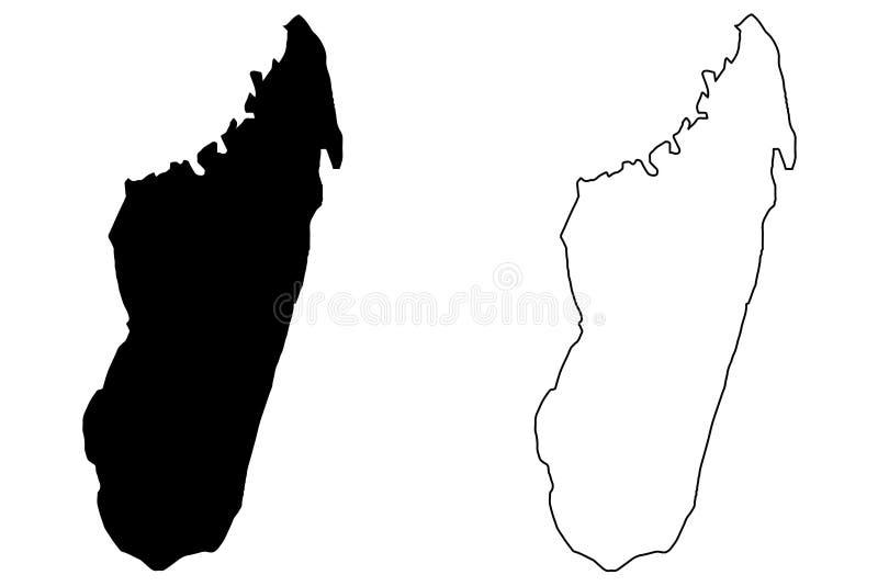 Madagascar map vector vector illustration