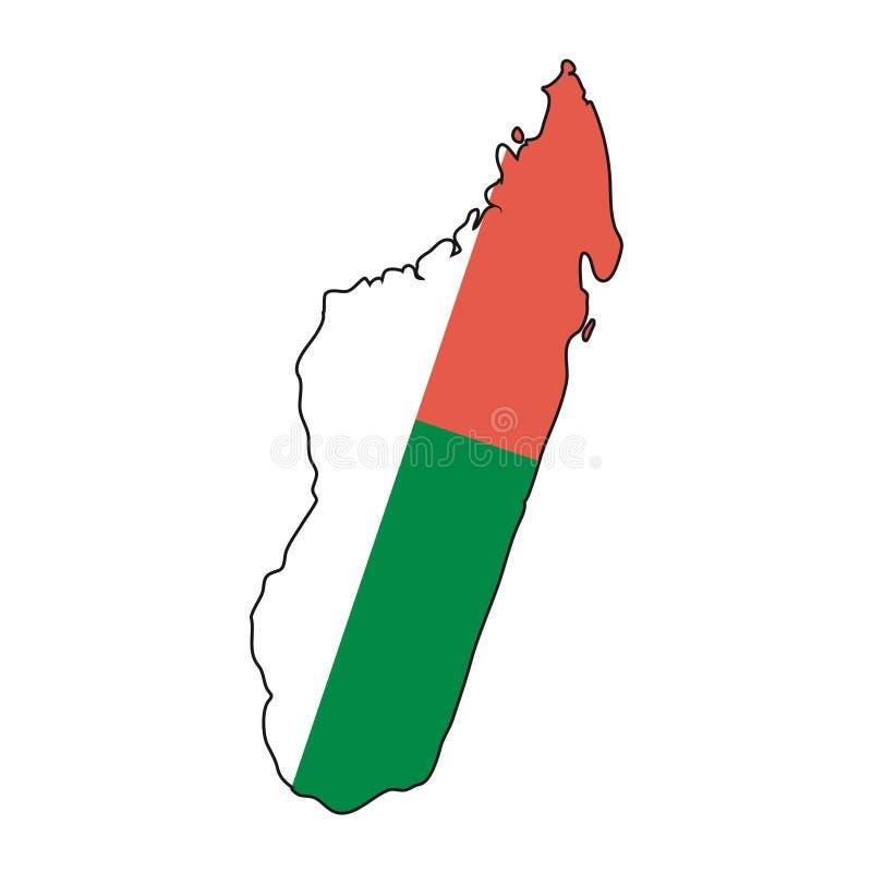 Madagaskar bandery wektora ilustracji