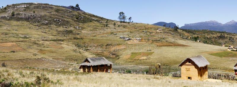 Madagaskar-Landschaft - Panoramablick stockfotografie