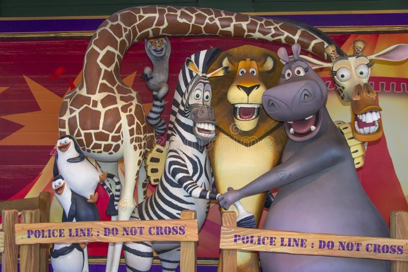 Madagaskar-Zeichentrickfilm-Figur lizenzfreies stockbild