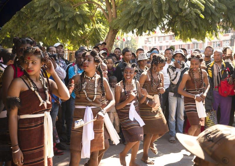 Madagassische Karnevalsfeier lizenzfreie stockbilder