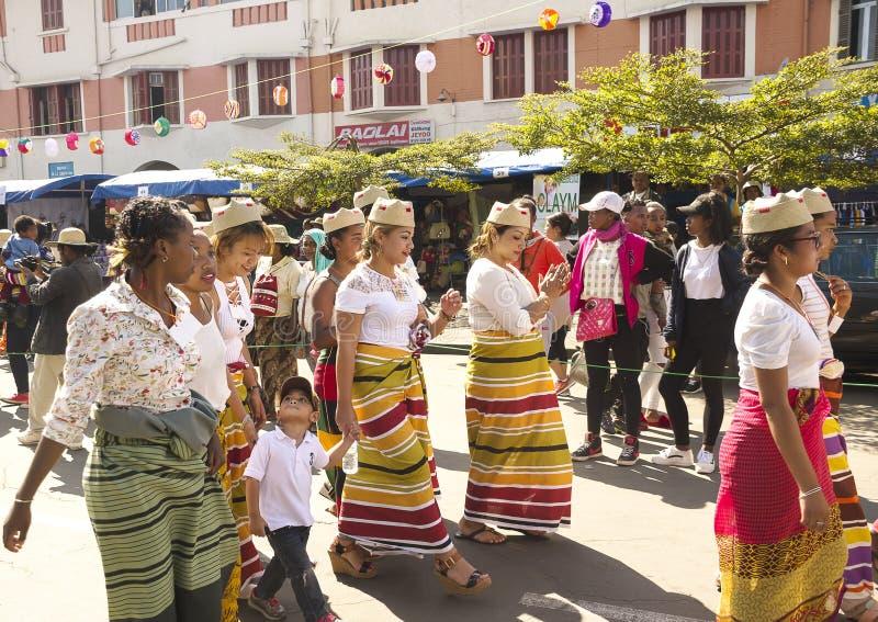 Madagassische Karnevalsfeier lizenzfreies stockfoto