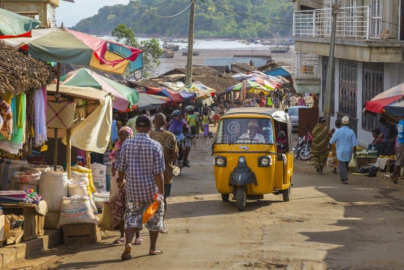 Madagassischer Markt in der Hölle Ville, neugierig ist lizenzfreie stockfotografie