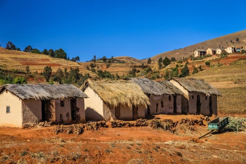 Madagassisches Dorf lizenzfreie stockfotografie