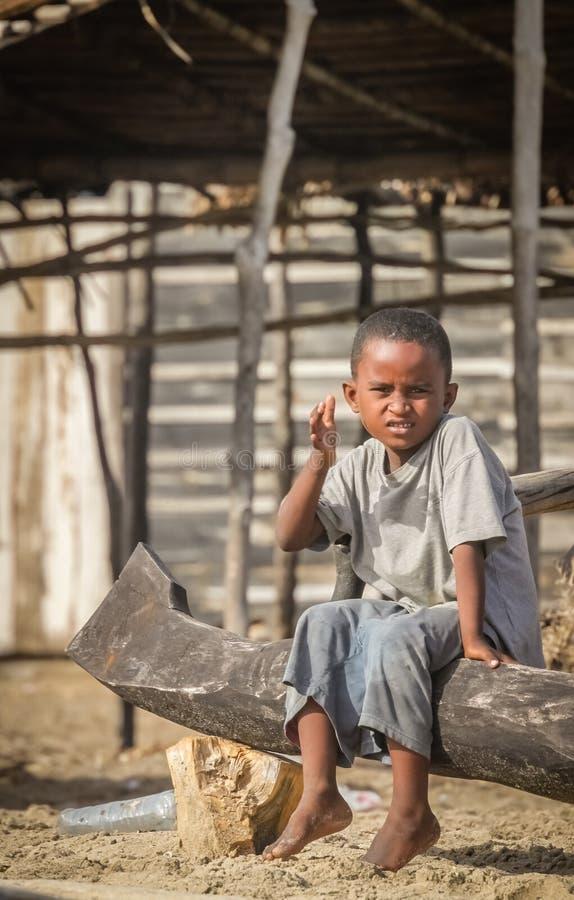 Madagassisches Jungenporträt stockfoto