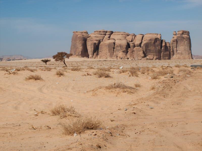 Madain Saleh, αρχαιολογική περιοχή με τους τάφους Nabatean στη Σαουδική Αραβία KSA στοκ εικόνες με δικαίωμα ελεύθερης χρήσης