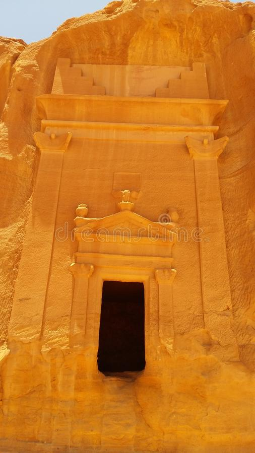 Madain Saleh foto de stock