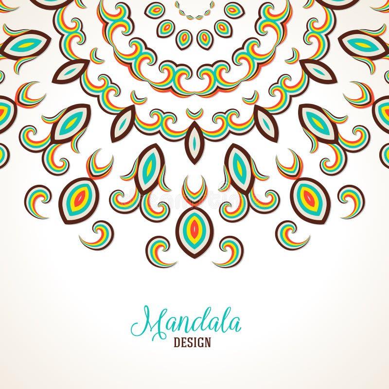 Madala вектора, круглый орнамент иллюстрация штока