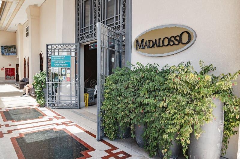Madalosso restaurant - Curitiba PR, Brazil. Curitiba - PR, Brazil - December 16, 2018: Restaurant Madalosso, the biggest restaurant of Latin America. Santa royalty free stock image