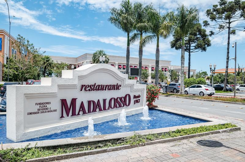 Madalosso restaurant - Curitiba PR, Brazil. Curitiba - PR, Brazil - December 16, 2018: Restaurant Madalosso, the biggest restaurant of Latin America. Santa royalty free stock photography