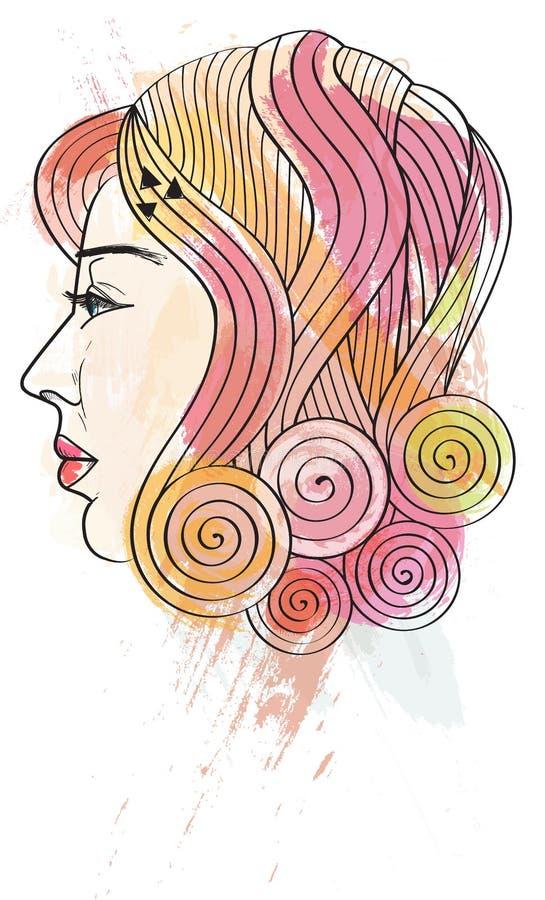 Download Madam stock illustration. Illustration of girl, vector - 29262475