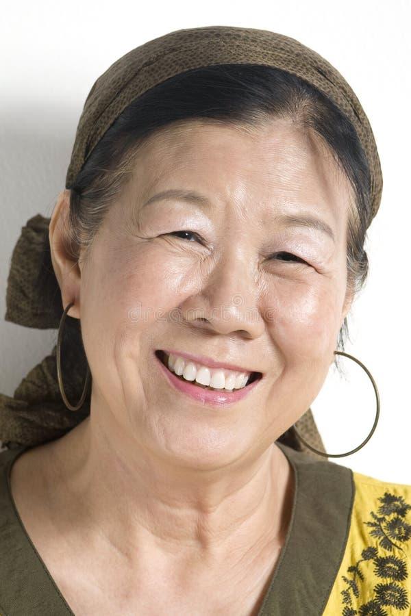Madame asiatique photo libre de droits