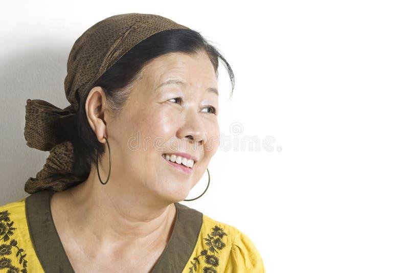 Madame asiatique moderne images libres de droits