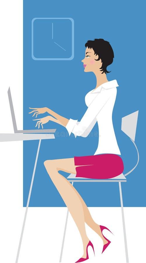 Madame au travail illustration libre de droits