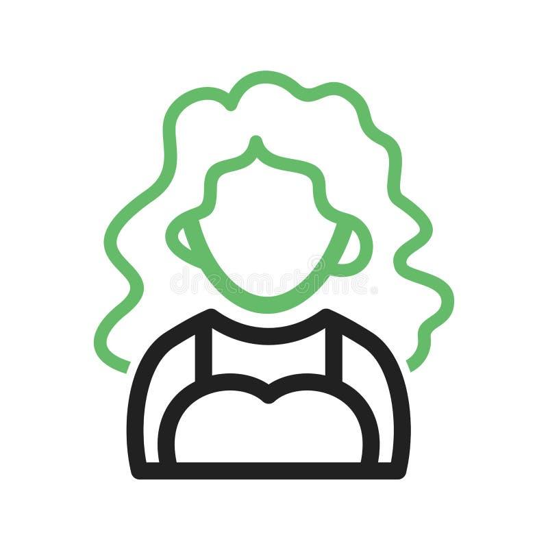 Madame avec les cheveux onduleux illustration libre de droits