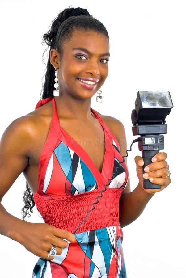 Madame avec une bavure noire photographie stock
