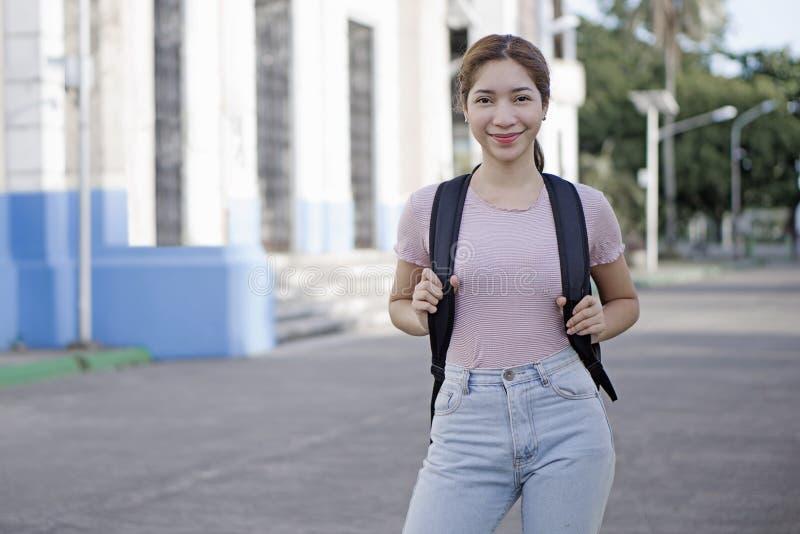 Madame College Student images libres de droits