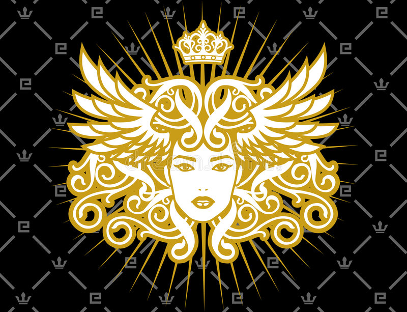 Madame d'or illustration libre de droits