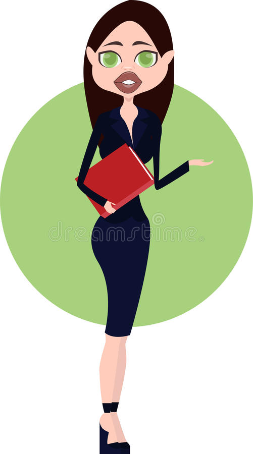 Download Madame #37 d'affaires illustration de vecteur. Illustration du corporate - 45351105
