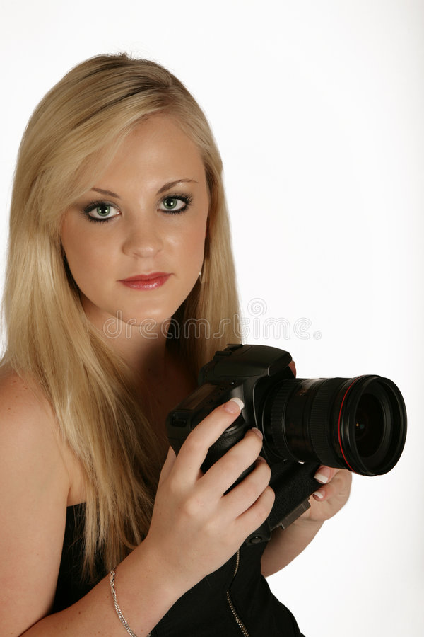 Madame d'appareil-photo images stock