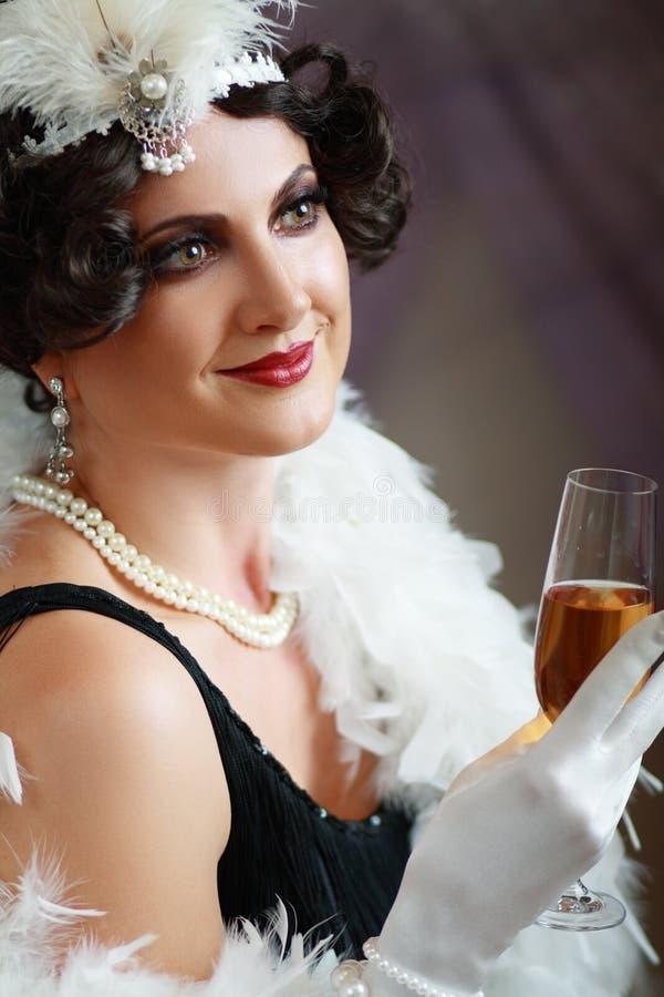 Madame d'hurler 20s image stock
