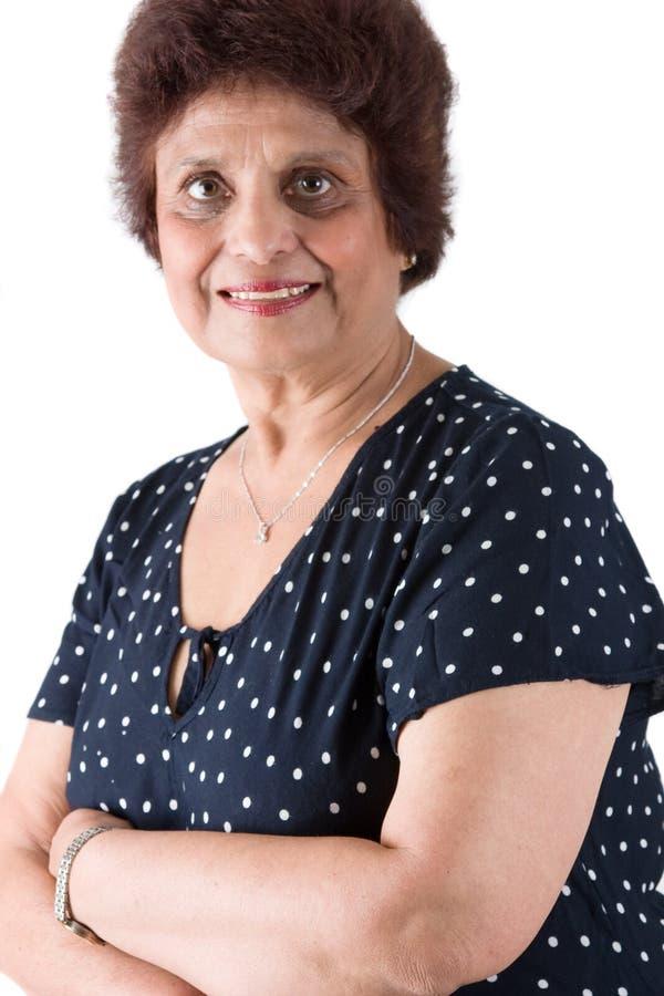 Madame d'Indien est de personnes âgées photo stock