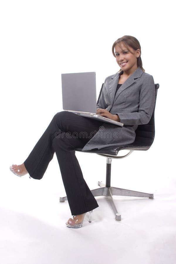 Madame d'ordinateur portatif photos libres de droits