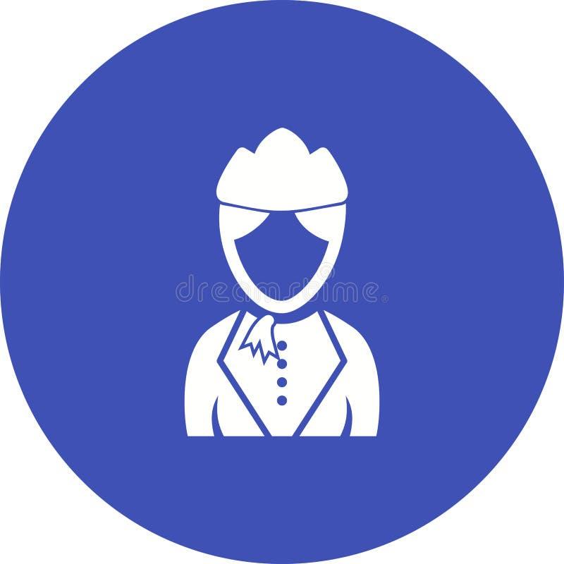 Madame dans l'hôtesse Dress illustration stock