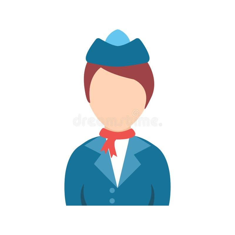 Madame dans l'hôtesse Dress illustration libre de droits
