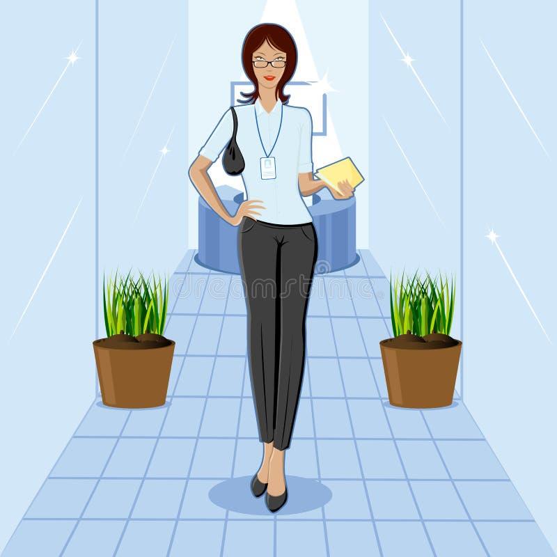 Madame dans le bureau illustration stock