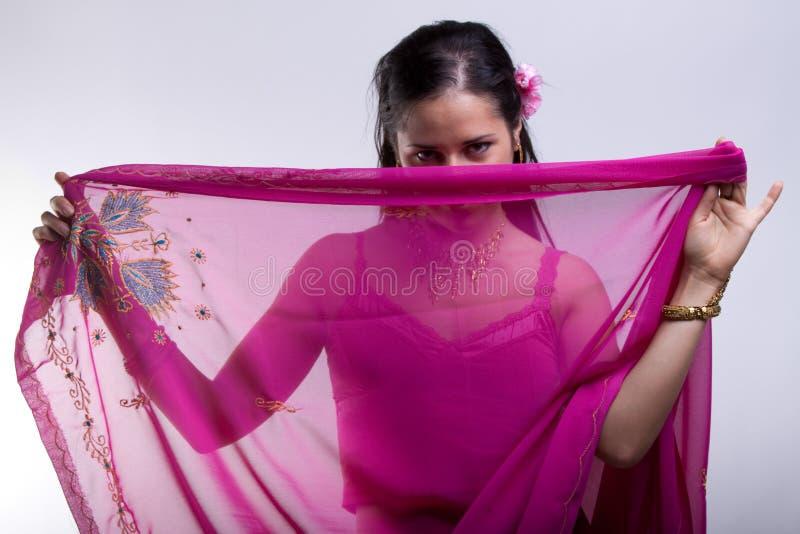 Madame dans le sari photos stock
