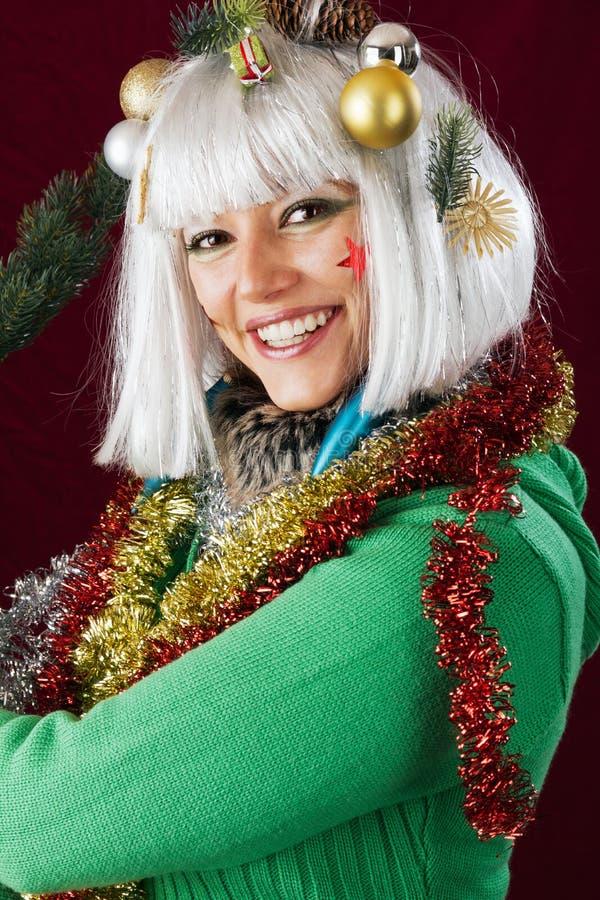 Madame de Joyeux Noël photographie stock