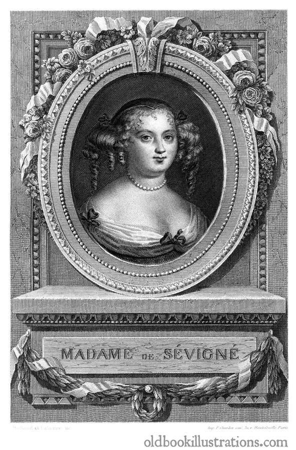 Madame de Sévigné photographie stock libre de droits