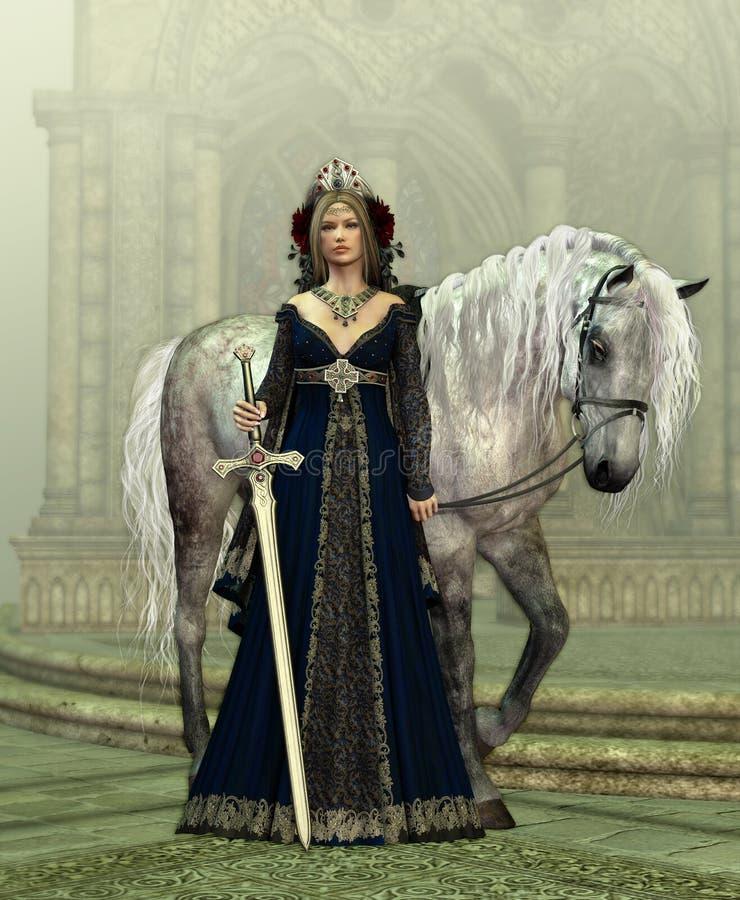 Madame du château illustration de vecteur