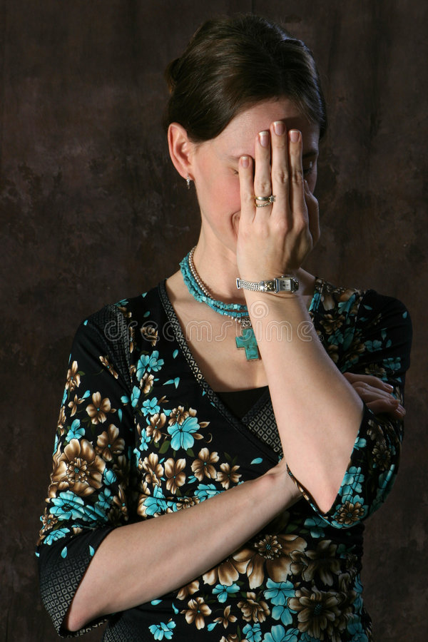 Madame Embarrassed Photographie stock