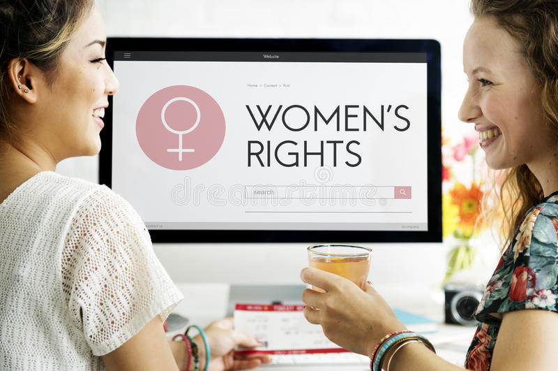 Madame féminine Feminism Concept de fille de femme de droits de femmes image libre de droits