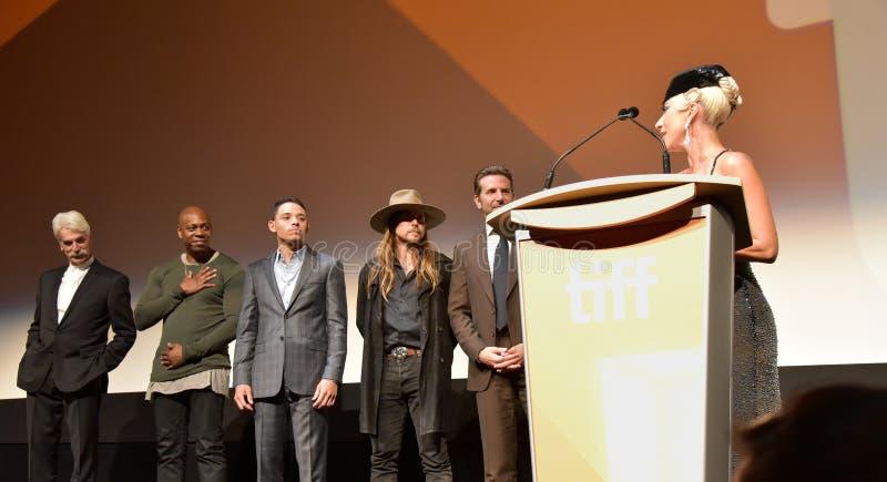 Madame Gaga à la première d'une étoile est née au festival de film international de Toronto 2018 photo libre de droits