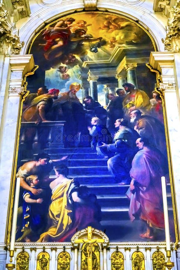 Madame Giordano Santa Maria della Salute Church Venic de présentation photo stock