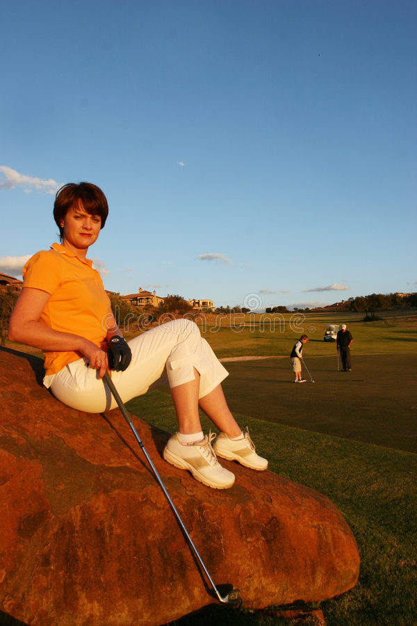 Madame Golfer photographie stock libre de droits