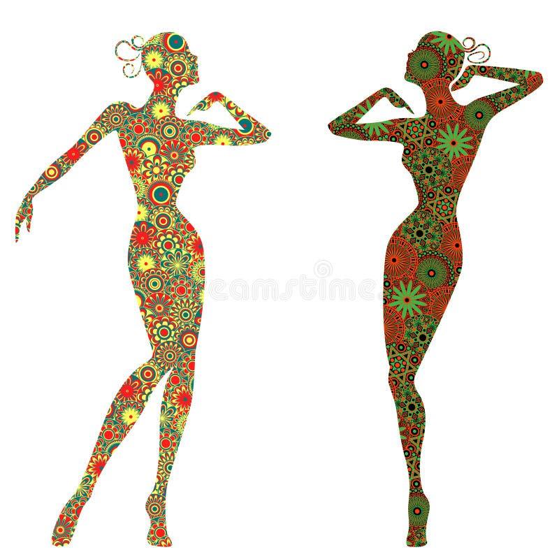 Madame gracieuse abstraite Bodies illustration de vecteur