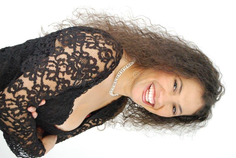 Madame heureuse et sexy photographie stock